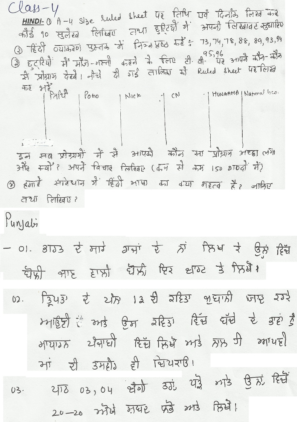 ryan international faridabad holiday homework
